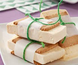 Sándwich de helado mantecado de vainilla