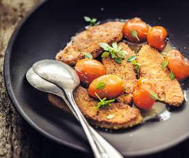 Escalopes de foie gras panées aux kumquats