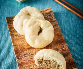 Char siu bao (panes al vapor rellenos)
