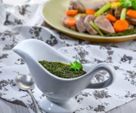 Salsa agrodolce alla parmigiana