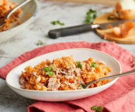 Riz à la sauce tomate et au thon