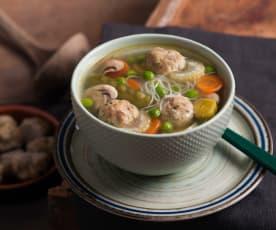 Zupa jarzynowa z klopsikami z cielęciny