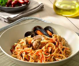 Spaghettini mit Muschelsauce