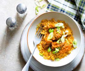 Curry de bœuf, coco et riz