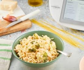 Spaghetti saumon-brocoli
