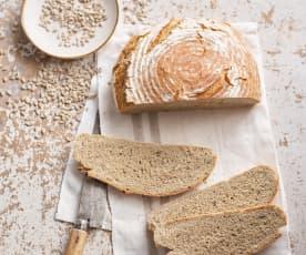 Pão de trigo sarraceno e centeio com sementes