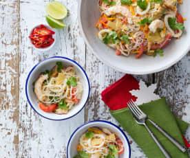 Thai noodle and seafood salad