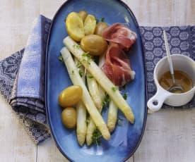 Spargel mit Kartoffeln