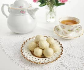 Passionfruit and macadamia truffles