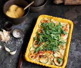 Tarte de polenta e curgete