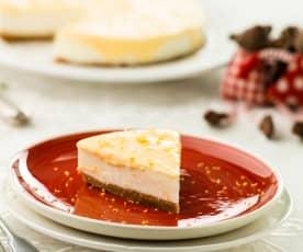 Cheesecake com lemon curd