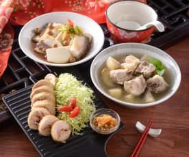 冬梨排骨湯、魚片蒸豆腐&酒釀鳳梨雞