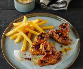 Chicken Wings in rauchiger Honigmarinade