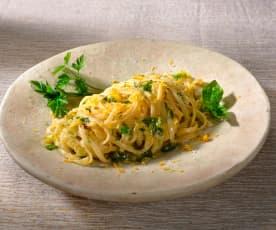 Linguine mit Zitronen-Kräuter-Pesto