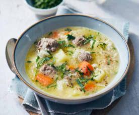 Hackbällchen-Suppe