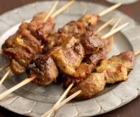 Thai-style grilled pork skewers