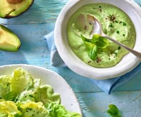 Avocado-Basilikum-Salatdressing