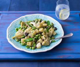 Artichoke and bean ragout
