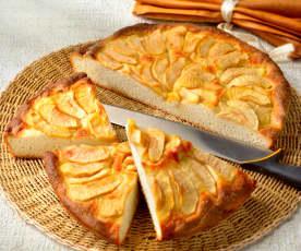 Focaccia dulce de manzanas