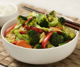Chinese-style stir-fried vegetables