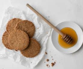Galletas integrales de miel
