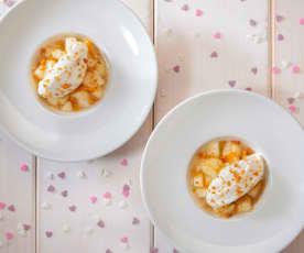 Crumble met peren en crème van ricotta