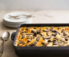 Chicken and mushroom lasagne