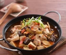 麻辣紅白豆腐煲