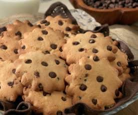 Biscottini di latte e farina di riso al cioccolato