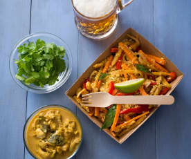 Curry z kurczaka (Koththu roti)