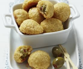 Oliven im Knuspermantel