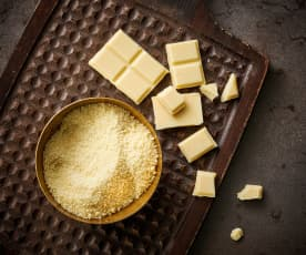 Chocolate blanco rallado fino (polvo de chocolate, 70-200 g)