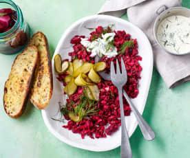 Kvass fermented beetroot salad