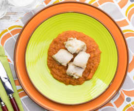 Bocconcini di pollo al Varoma con friggione bolognese