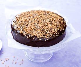 Tarta de chocolate almendrada