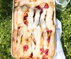 Marillen-Himbeer-Zupfkuchen