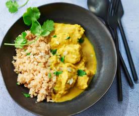 Curry de dinde à l'indienne et céleri-rave