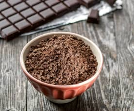 Coarsely Chopped Chocolate