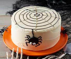 Black Velvet Halloween Cake