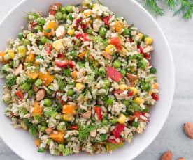 Kepekli Pirinç Salatası