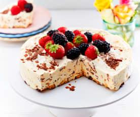 Eierlikör-Eistorte mit Mandelboden