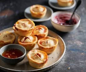 Baked Brie Bites with Chili and Raspberry Dips