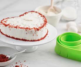 Ciasto Red Velvet Cake w kształcie serca