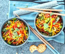Salteado de verduras al curry