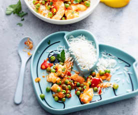 Baby-friendly Spiced Prawns and Rice