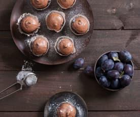 Muffiny bezglutenowe z musem śliwkowym