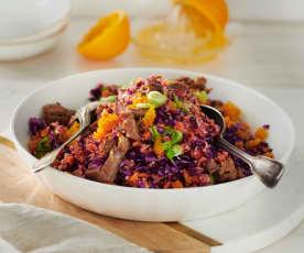 Braten-Rotkohl-Salat
