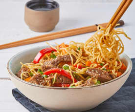 Asian Stir Fry with Noodles