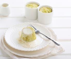 Flan di broccoli con crema al Parmigiano reggiano