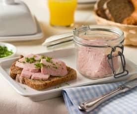 Frühstücksfleisch im Glas